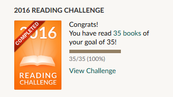 Goodreads Book Challenge 2016