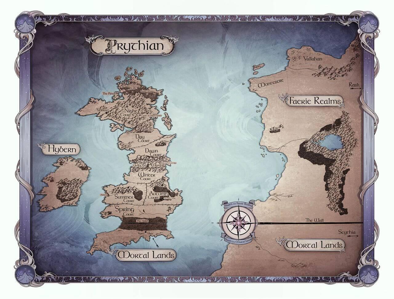 карта на Притиан